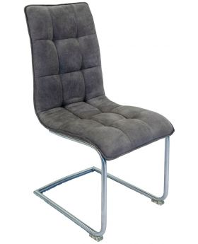 Pair of Classic Nova Dining Chairs - Grey