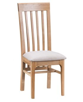 Kettle NT Dining Slat Back Chair with Fabric Seat