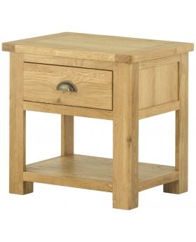 Classic Furniture Portland Lamp Table with Drawer - Oak