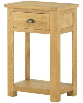 Classic Furniture Portland Small Console Table-oak