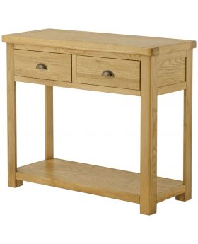 Classic Furniture Portland 2 Drawer Console Table-oak