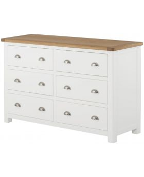 Classic Furniture Portland 6 Drawer Chest-white