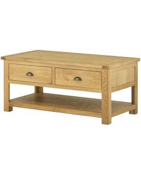 Classic Furniture Portland Coffee Table with Drawers-oak