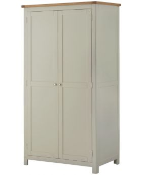 Classic Furniture Portland 2 Door Wardrobe-stone