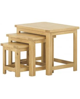 Classic Furniture Portland Nest of Tables-oak
