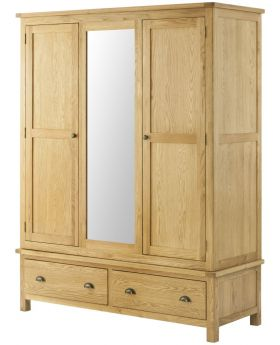 Classic Furniture Portland Triple Wardrobe-oak