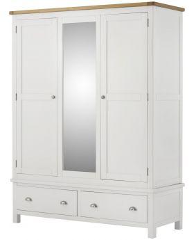 Classic Furniture Portland Triple Wardrobe-white