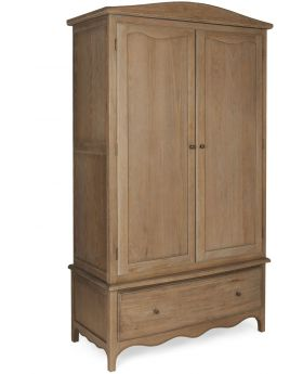 Classic Furniture Paris Limed Oak Wardrobe with Drawer