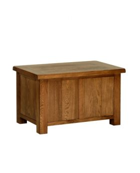 Devonshire Rustic Oak Small Blanket Box