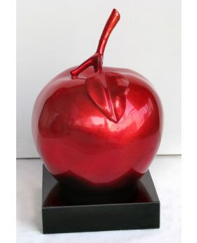 Big Red Apple Sculpture