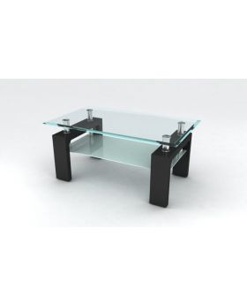 Value Mark Reno Clear Glass Coffee Table