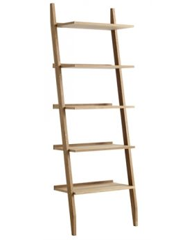 Unique Riva Ladder Riva Ladder Shelving Unit with 5 Shelves Oak