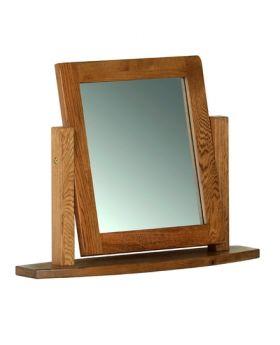 Devonshire Rustic Oak Single Dressing Table Mirror
