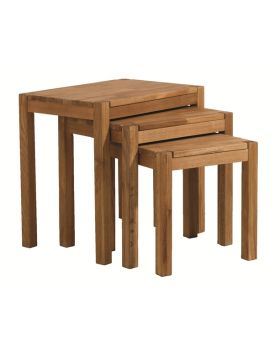 Unique Royal Oak Nest of Tables