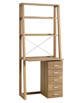 Unique Royal Oak Home office Shelving unit with Desk