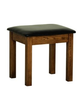 Devonshire Rustic Oak Dressing Table Stool