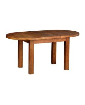Devonshire Rustic Oak Small D End Extending Table 1315Mm