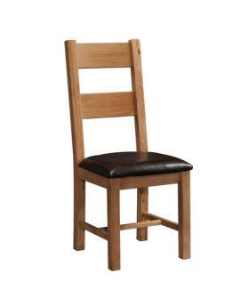 Devonshire Rustic Oak Ladder Back Chair