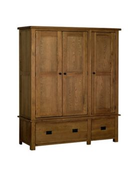 Devonshire Rustic Oak Triple Wardrobe