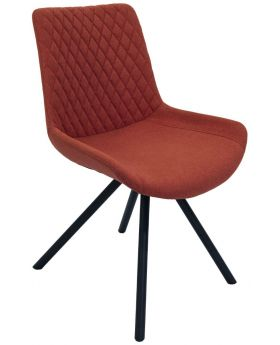 Pair of Classic Sigma Dining Chairs - Burnt Orange