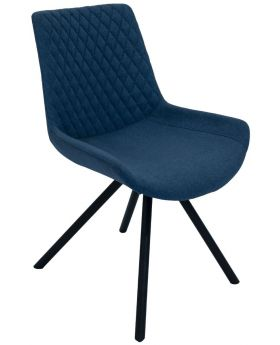 Pair of Classic Sigma Dining Chairs - Mineral Blue