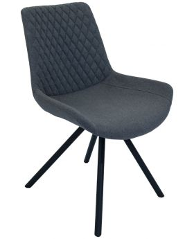Pair of Classic Sigma Dining Chairs - Shadow Grey