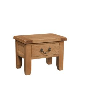 Devonshire Somerset Oak Side Table With Drawer