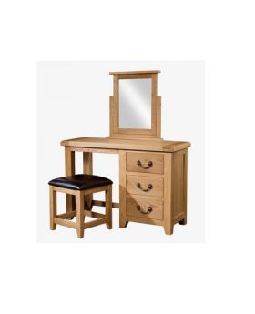 Devonshire Somerset Oak Single Pedestal Dressing Table