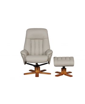 St. Tropez Swivel Recliner Chair & Stool