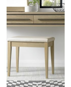 Bentley Designs Rimini Aged Oak & Weathered Oak Stool