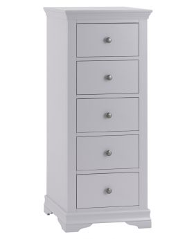 Kettle SW Bedroom Grey 5 Drawer Narrow Chest