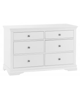 Kettle SW Bedroom White 6 Drawer Chest