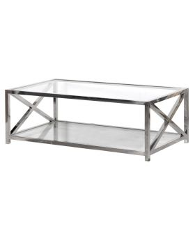 Terano Glass and Steel Coffee Table