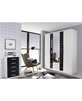 Rauch Terano 181cm 4 Door Combi Wardrobe - White/Basalt