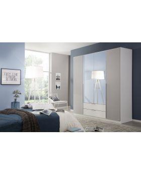 Rauch Texas 181cm 4 Door Combi Wardrobe - Grey
