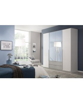 Rauch Texas 181cm 4 Door Combi Wardrobe - White