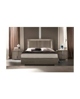 Tivoli UK 6FT Bed With LED Lights Oak Grigio