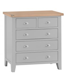 Kettle TT Bedroom Grey 2 Over 3 Chest of Drawers