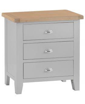Kettle TT Bedroom Grey 3 Drawer Chest