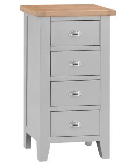 Kettle TT Bedroom Grey 4 Drawer Narrow Chest