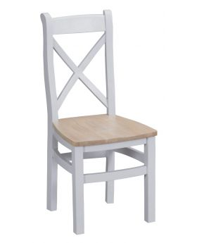 Kettle TT Dining Grey Cross Back Wooden Chair