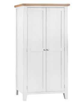 Kettle TT Bedroom White Full Hanging Wardrobe