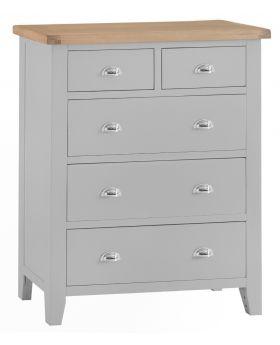 Kettle TT Bedroom Grey Jumbo 2 Over 3 Chest of Drawers