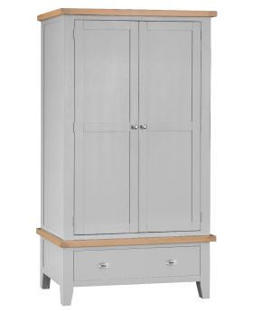 Kettle TT Bedroom Grey Large 2 Door Wardrobe
