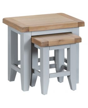 Kettle TT Dining Grey Nest Of 2 Tables