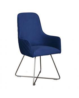 Carlton Utah Dining Chair In Marine Blue