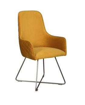 Carlton Utah Dining Chair In Mustard