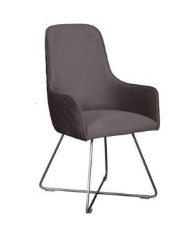 Carlton Utah Dining Chair In Steel Grey