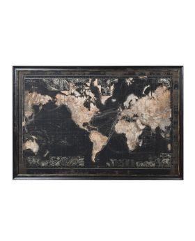 Large Vintage Look World Map