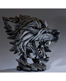 Edge Sculpture Wolf Bust - Timber